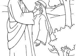 Jesus Heals The Sick Coloring Page Az Pages