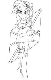 Rarity Coloring Pages Images Of My Little Pony Girls