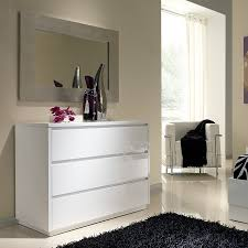 commode chambre adulte design commode adulte design laquée blanche tobia 3 tiroirs rangement