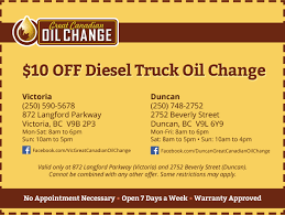 100 How To Change Oil In A Truck Great Canadian Coupon Victoria Duncan