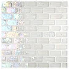 glass tile 1 2 x 1 mini brick mosaic white pearl