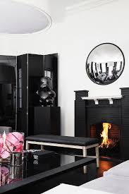 elegantes schwarz weisses wohnzimmer bild kaufen