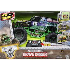 New Bright Monster Jam 1:10 Scale Remote Control Vehicle Grave ... New Bright Monster Jam Radio Control And Ndash Grave Digger Remote Truck G V Rc Car Jams Amazoncom 124 Colors May Vary Gizmo Toy 18 Rc Ff Pro Scorpion 128v Battery Rb Grave Digger 115 Scalefreaky Review All Chrome Scale Mega Blast Trucks Triangle By Youtube 1530 Pops Toys New Bright Big For Monster Extreme Industrial Co