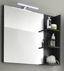 details zu wandspiegel spiegel badmöbel badezimmer bad in grau mit regal ablage möbel