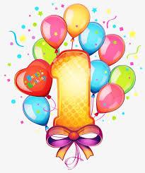 1 birthday Birthday Celebration Celebrate PNG Image