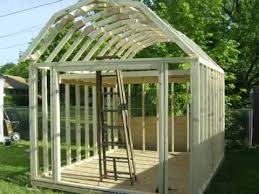 12x16 Gambrel Storage Shed Plans Free by Building A Gambrel Shed Youtube