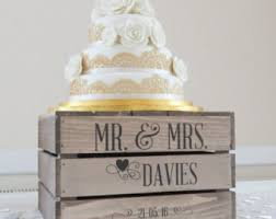 Personalised Rustic Wedding Cake Stand Vintage Wooden Apple Crate