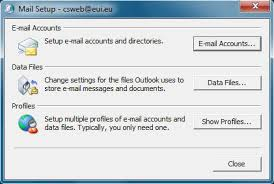 Configuring Windows MS Outlook 2007 or later for use with fice