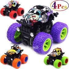 100 Kids Monster Trucks Friction Powered Toys 4 Pack