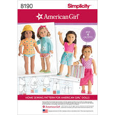 Amazoncom Simplicity Pattern 8190 American Girl Clothes For 18