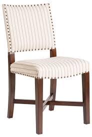 100 Birch Dining Chairs Chair La Jolla Pair Denim Stitch Stripe Upholstery Wood
