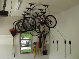 Ceiling Bike Rack Diy by Garage Storage Racks Wall Ideas Home Design By Larizza