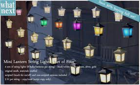Second Life Marketplace what next} Mini Lantern String Lights