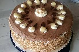 nougat birnen torte