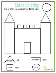 Preschool Drawing Shapes Worksheets212387
