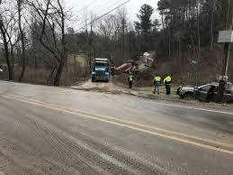 100 Stuck Truck Crews Remove Fire Truck Stuck In Creek After Bridge Collapse In