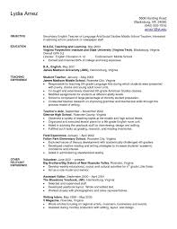 Interest For Resume Substitute Teacher Sample New Teaching Examples
