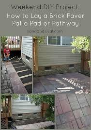 how to lay a garden patio 162 best brick patio images on backyard ideas garden