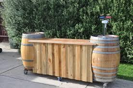 Portable Patio Bar Ideas by Wine Barrel Bar Possible Bar Idea Looking For Something Big