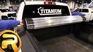 Truxedo Bed Cover by Truxedo Titanium Hard Roll Up Tonneau Cover Youtube