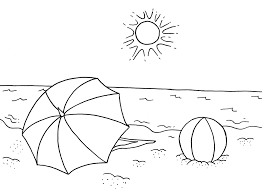 Summer Coloring Pages First Grade For