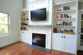 Living Room With Fireplace And Bookshelves by Ana White Living Room Built Ins Feature By Decor And The Dog