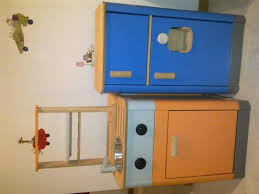 Wooden Kitchen and Refrigeraor set from Plan Toys • Singapore
