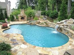Swimming Pool Slide Diving Board Hot Tub And Waterfall What With Valve