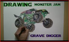 100 Monster Truck Drawing How To Draw A 83368 Speed Jam Grave