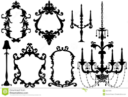 Antique Picture Frames And Chandelier Royalty Free Stock Image Bv16pn Clipart