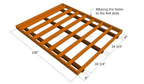 Distance Between Floor Joists by How To Build A Shed Floor Howtospecialist How To Build Step