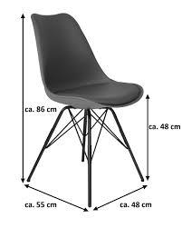 esszimmerstuhl schalenstuhl schwarz metallfüße lekues