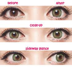 Prescription Halloween Contacts Astigmatism by G U0026g Shinny Green Circle Lenses Colored Contacts Pinkyparadise