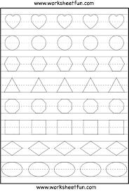 Preschool Printable Resources Uk Valid Shape Tracing Math Pinterest