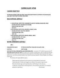 Sample Resume Nurses For Staff Nurse Nursing Supervisor