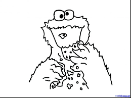 Elmo And Cookie Monster Coloring Pages To Print Images Of Face Draw Page Free Sheets