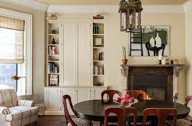 Armoire Modern Dining Room Traditional With Built In Cabinetry Wall Art