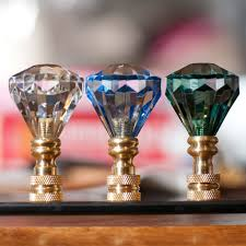 Square Crystal Lamp Finials by Lamp Finial Blessing Light