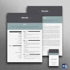 Modern Resume Template CV Templates Creative Market