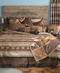 Wooded River Bedding by Cabin Brown Mustang Western Comforter Bedding Set Bed In A Bag