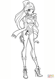 Download Coloring Pages Winx Bloom Page Free Printable Gallery