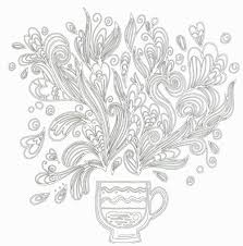 Colouring Cafe Anti Stress Theme Book Hey Eonni