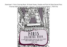 Download 1 Paris Coloring Book 30 Hand Drawn Doodle And Folk Art Style