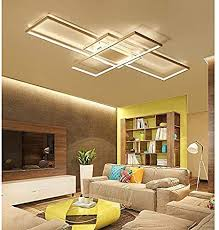 led deckenleuchte wohnzimmer len dimmbar deckenle hängeleuchte modern eckig designer fernbedienung leuchen metall acryl schirm decke