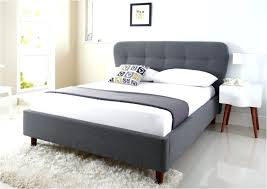White Faux Leather Queen Bed Frame Metal Brimnes With Storage