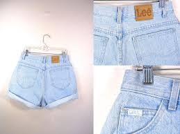 high waist denim shorts vintage lee shorts high waist jean