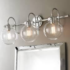 retro glass globe bath light 2 light shades of light