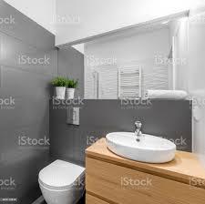 modernes grau bad mit dusche stockfoto und mehr bilder architektur
