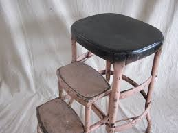 Cosco Counter Chair Step Stool by Cosco Step Stools Chairs Vintage Cosco Metal Step Stool Ladder