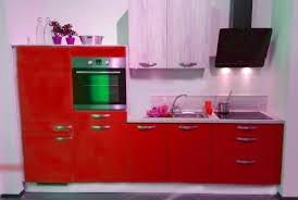 einbauküche mankatrend 4 in rot pinie küchenzeile 320 cm mit e geräte